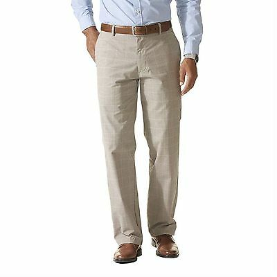 NEW Mens Dockers Signature Khaki D2 Straight-Fit Grey Checked Pants Retail $58