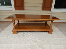 Ethan Allen Heirloom Maple/Nutmeg Two Tiered Coffee / Cocktail Table