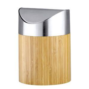 Kosmetik Mull Eimer Kosmetikeimer Mulleimer 2 Liter Bambus Edelstahl