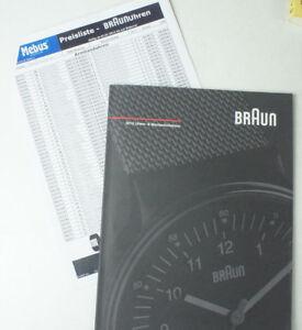 Ausdrucksvoll Braun 2013 Uhren- & Weckerkollektion Katalog Incl. Preisliste Chronograph B11186
