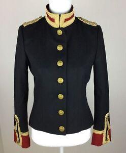 Ralph Lauren Denim   Supply Women Military Army Wool Officer Band ... 59da73f57b2
