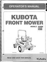 Kubota F2690(e), F3990 Mower + Deck Operator Manuals (set Of 2)