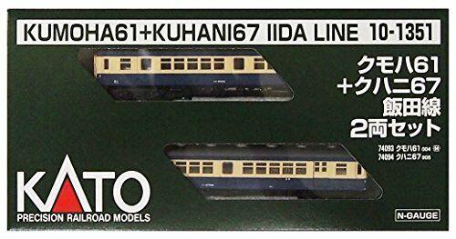 Kato N Gauge Spider 61 Kuhani 67 Iida Line 2auto Set 10 1351 Railway modellolo