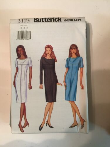 Butterick ±3 Ladies Fitted Dress Pattern UK8 10 12 14 16 18 2 22