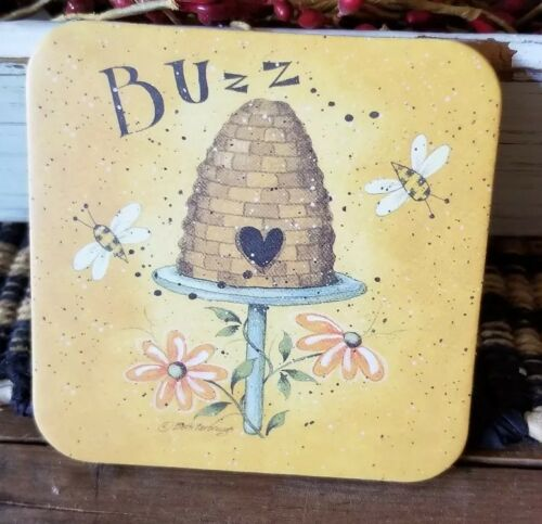 Primitive Country Rustic Beehive Coasters Set of 4