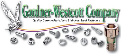 Gardner-Westcott chrome Cam and Primary Cover Hardware Set Harley Dyna