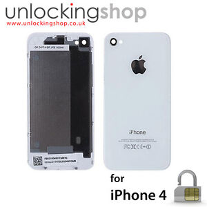for-Apple-iPhone-4-NEW-Replacement-Battery-Cover-Back-Glass-WHITE-x-10