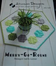 Atkinson Designs Merry-Go-Round Table Runner Pattern-FREE US SHIPPING!