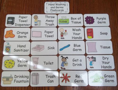 A saúde e higiene Flash cartões pré-Imagem E Palavra Cartões Flash Para Chil