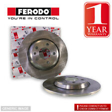 Ferodo Alfa Romeo 147 1.9 JTD 01- Brake Discs Coated Pair Rear Placement Replace