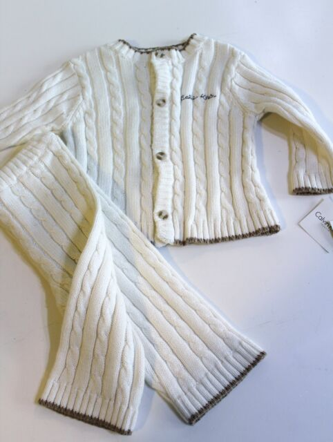 Lilax Baby Boy Cable-Knit Basic Knit Cardigan Sweater
