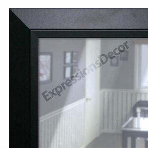Image Is Loading Custom Satin Black Flat Glass Contemporary Wall Mirror