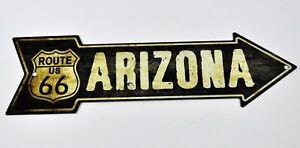 USA Route 66 Arizona Wegweiser Pfeil Magnet Blechschild Blech Deko Schild