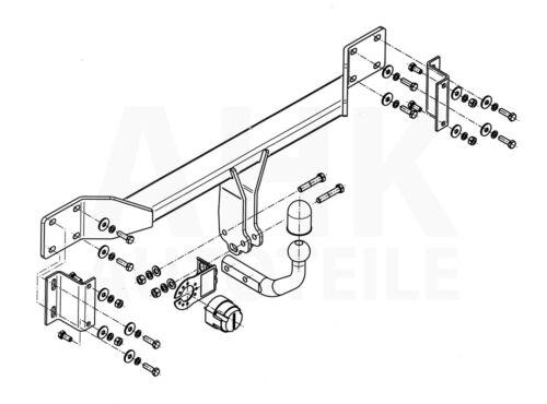 Für BMW 5er E60 4-Tür Limousine Anhängerkupplung starr+ES 13p ABE