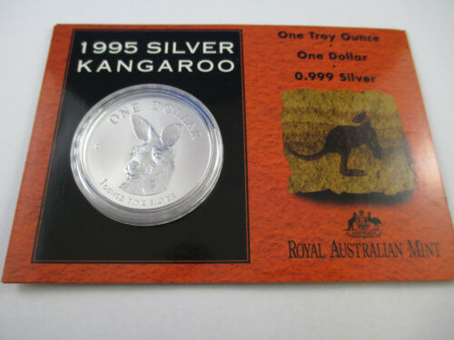 1995 RAM SILVER FROSTED UNCIRCULATED COIN SILVER KANGAROO $1 COMPLETE!!!