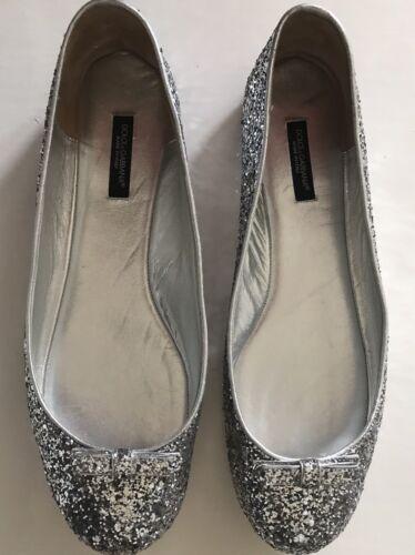 Porter Net Silver Comode Dolce Gabbana A Glitter ballerine qFOOwB