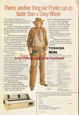 Toshiba  P1350 Dot Matrix Printer Vintage 1984 Magazine Advert #5236