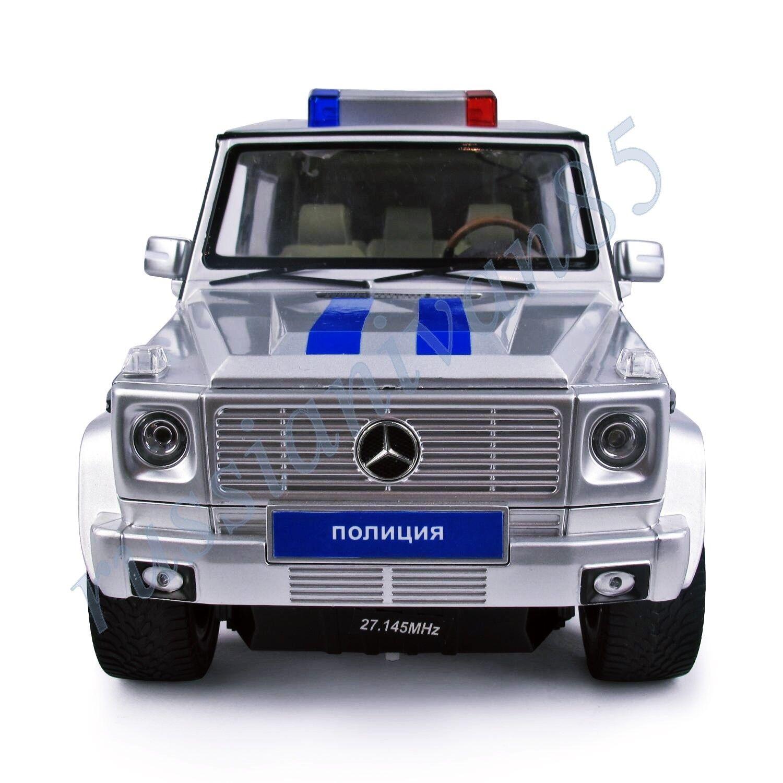 Mercedes-Benz. G55 Policía. Rastar. radio controlado Auto. G55 AMG. 1 24