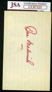 Joe-Medwick-Jsa-Autograph-3x5-Index-Card-Authentic-Hand-Signed