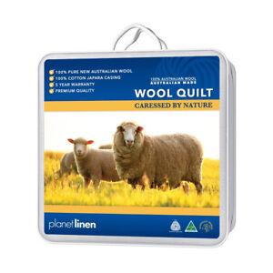 King-Single-AUSTRALIAN-Made-MERINO-100-Wool-Quilt-Doona-Duvet-500gsm-Brand-New