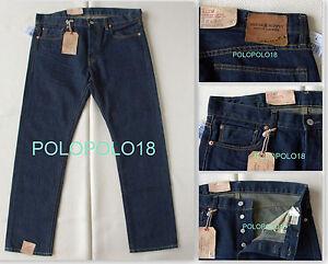 New 125 Ralph Lauren Denim Amp Supply Slim Blue Jeans Pants