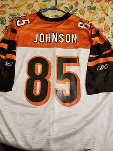 e3c41d8a Details about Chad Johnson Reebok On Field NFL Jersey Cincinnati Bengals  White Size XXL 2XL