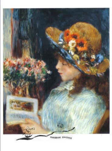 Auguste Renoir Reading Girl Kunstpostkarte Lesendes Mädchen