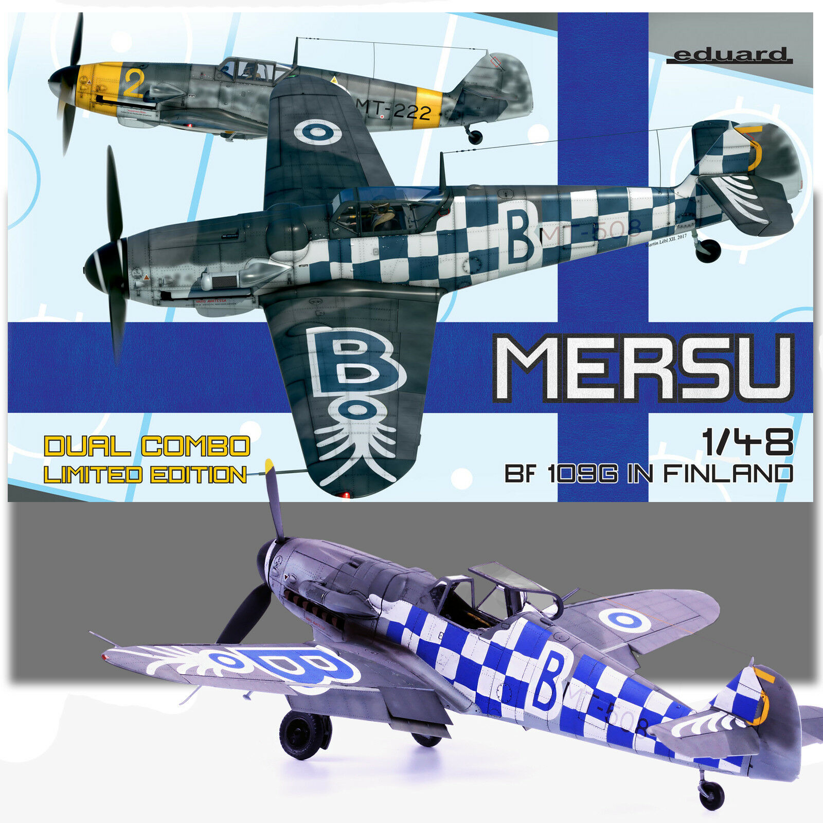 Eduard 1/48 Mersu 'BF-109G en Finlandia Dual Combo Kit de edición limitada de 11114
