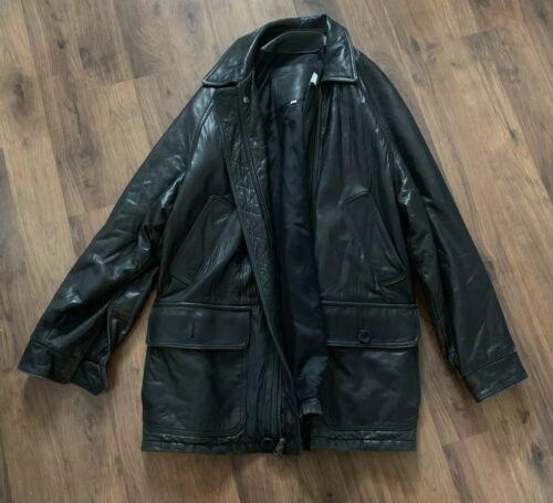 COACH leather Jacket Mens Size Medium Coat Rare Mo