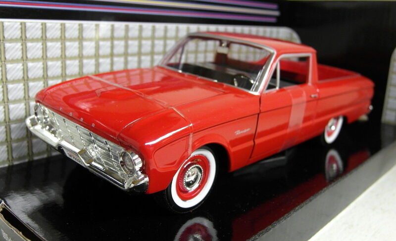 Motormax 1 24 Scale Scale Scale 73200AC 1960 Ford Ranchero Red Diecast model car 77a079