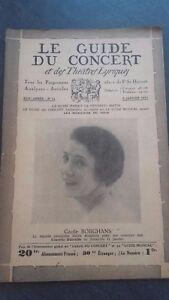 Revista Le Guía de La Concierto Y Las Sketches Letra 1931 N º 14 C.Borghans