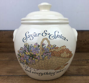 Vintage Treasure Craft Sugar & Spice & Everything Nice Cookie Jar