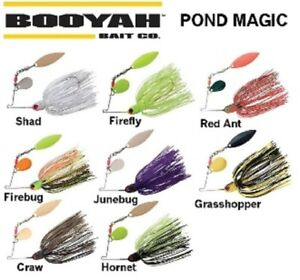 Booyah-Pond-Magic-Spinner-Bait-3-16-oz-Col-Willow-Blades-Choice-of-Colors