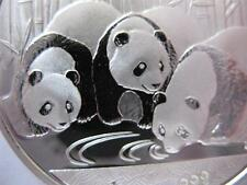 1- OZ.PURE 999 SILVER 2013 PANDA-CHINA BABY'S COIN MINT CONDITION-HARD CASE+GOLD