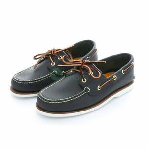Timberland-Chaussures-Bateau-Homme-Bleu-marine-UK-7-8-9-10-11-12-veritable-Livraison-gratuite