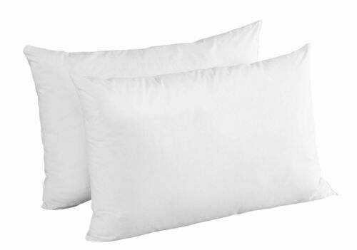 2X NEW SUPER BOUNCE PILLOW PAIR FOR BEDROOM HOLLOW FIBER FILLING HOTEL QUALITY