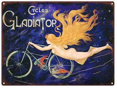Gladiator Cycles bike Vintage Look Advertising Metal Sign 9 x 12 60066