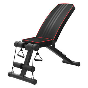 Adjustable-Bench-Press-Flat-Incline-Decline-Weight-Workout-Fitness-Exercise-Gym