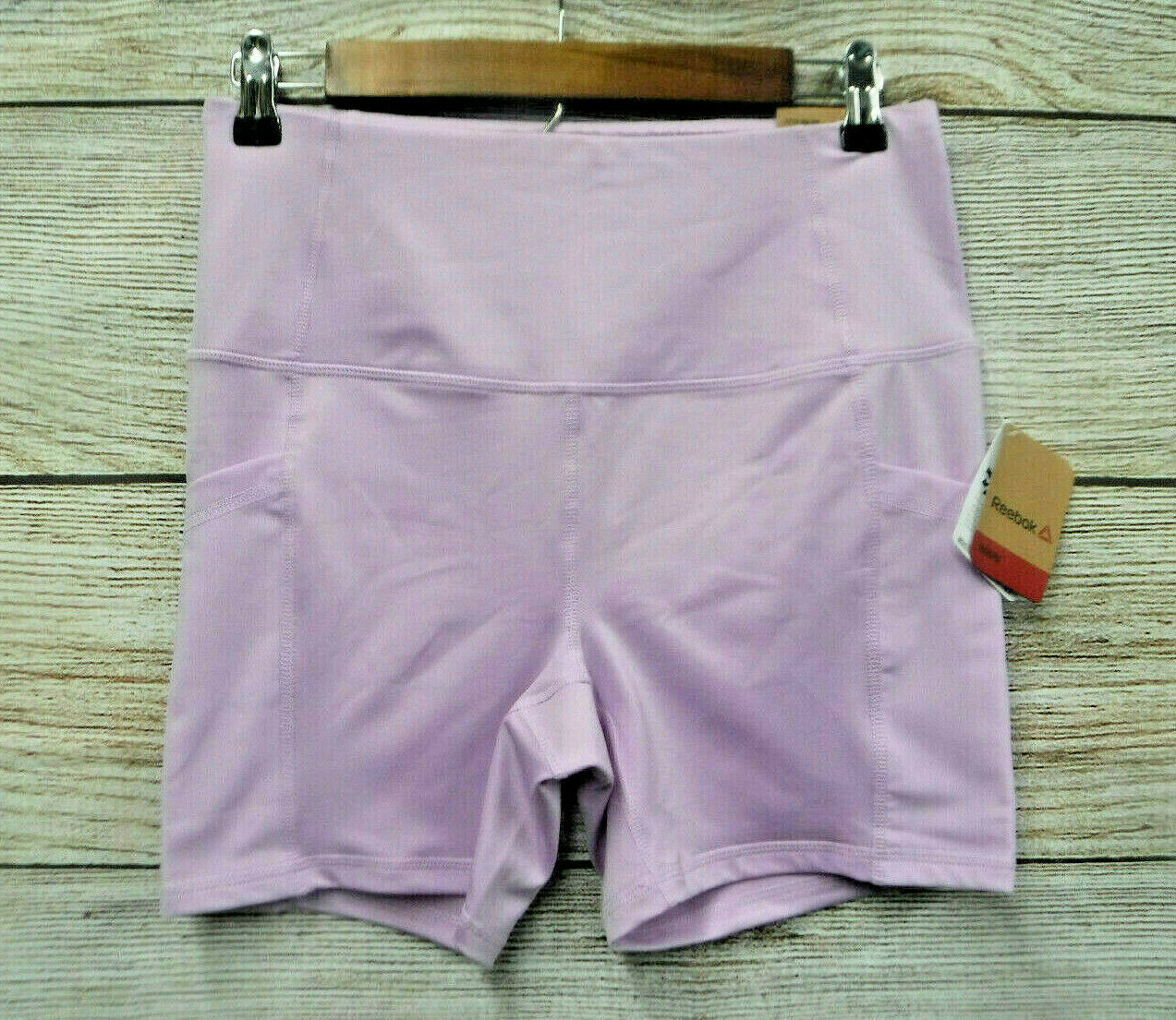 Reebok Shorts Womens Size XSmall Orchid Bloom High Speed Fitted High Rise New