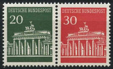 Germania OVEST 1966-8 sg#1413, 1414 Porta di Brandeburgo Gomma integra, non linguellato se-inquilino COPPIA #d425