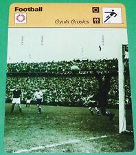FOOTBALL MAGYAR HONGRIE GYULA GROSICS HONVED BUDAPEST TATABANYA WM 54
