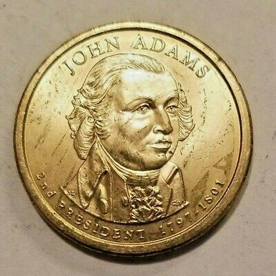 USA 2007 /'D/' ONE DOLLAR JOHN ADAMS PRESIDENTIAL COIN MONEY