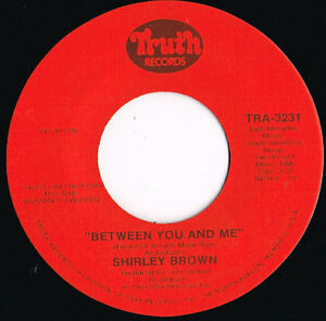 SHIRLEY-BROWN-between-you-amp-me-it-039-s-worth-a-whippin-039-U-S-TRUTH-45rpm-1975-SOUL