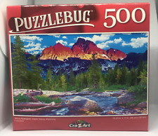Jigsaw Puzzle 500 Piece Grand Tetons National Park Wyoming PUZZLEBUG Alpenglow