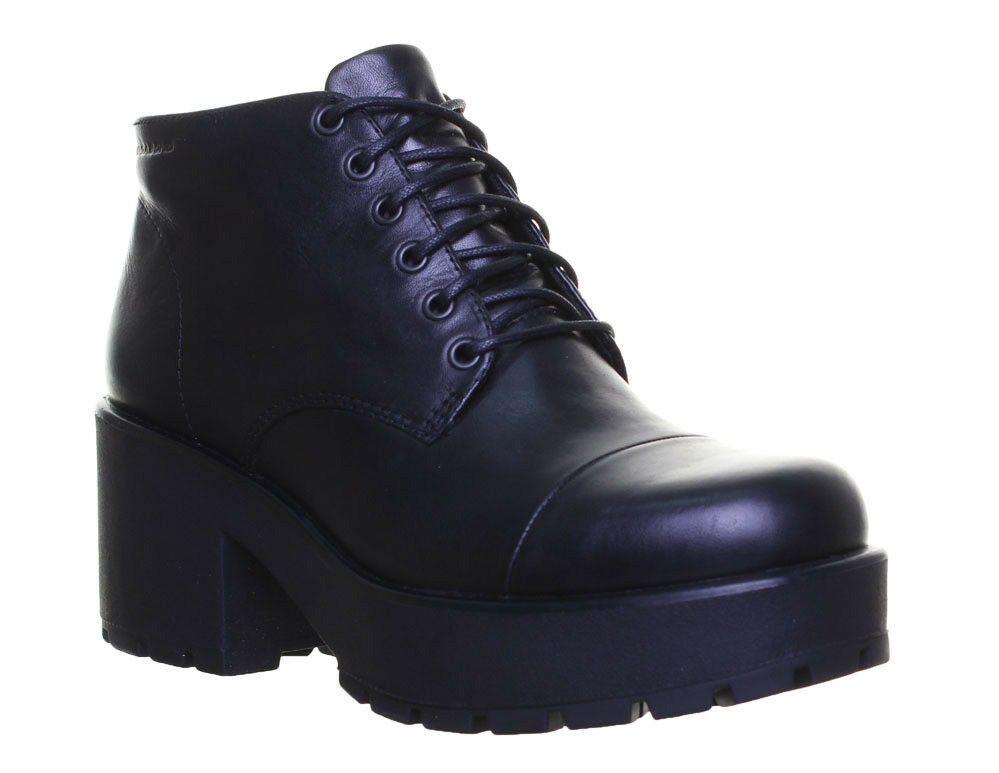 Vagabond Dioon damen Leather Ankle Stiefel 80s Chunky Platform Größe UK 3 - 8