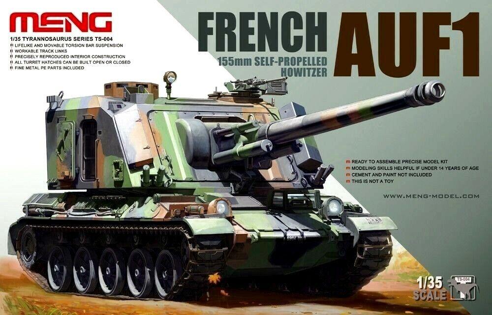 Meng Models 1 35 AUF1 155mm French Self-Propelled Howitzer Model Kit