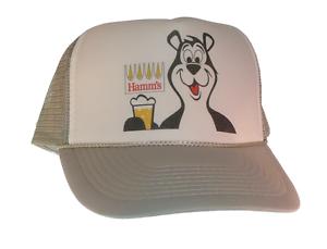 Vintage Hamm/'s Beer Bear hat Trucker hat mesh hat adjustable Gray