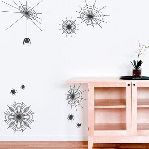Murales spinnennetze set pared Pegatina araña pared Sticker decoración de pared