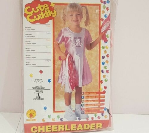 Girl/'s Cheerleader Fancy Dress Costume 6-12 months and 2-4 years