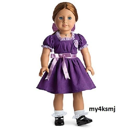 American Girl Emily/'s Purple HOLIDAY OUTFIT Christmas Dress   DOLL NOT INLCUDED